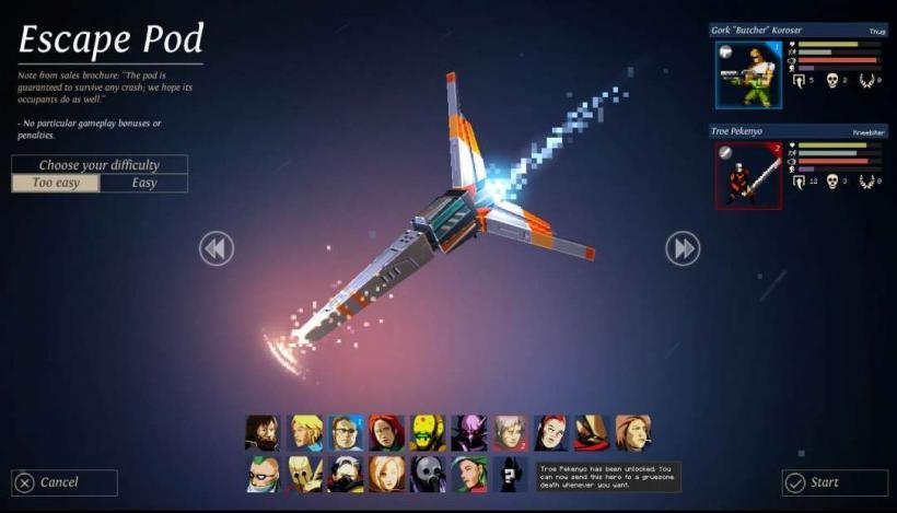 Seleção de Personagens Dungeon of the Endless