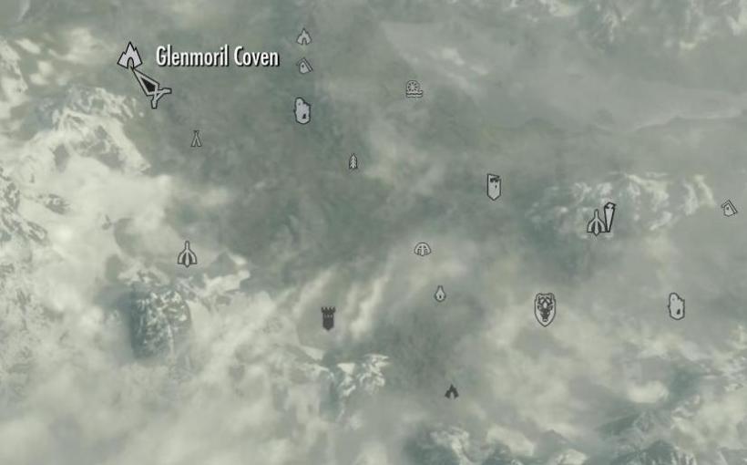 Localização da caverna com as hagravens