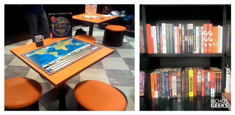 Eventos e encontros de jogos de tabuleiro na loja geek