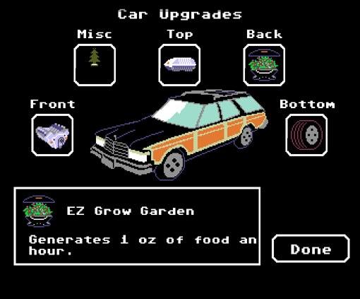 upgrade do carro no Organ Trail