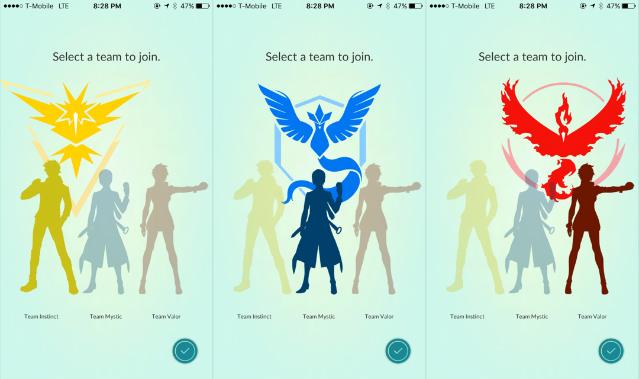 guia de pokemon go - Equipes de ginasio