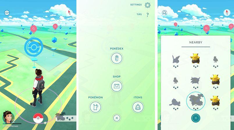 guia de pokemon go - interface